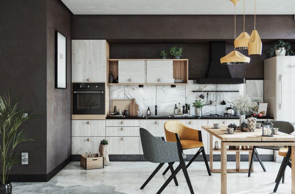 آشپزخانه یک دیواره 8
