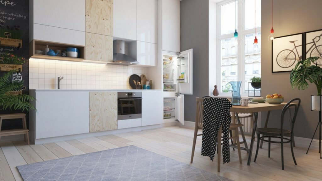 آشپزخانه یک دیواره 20