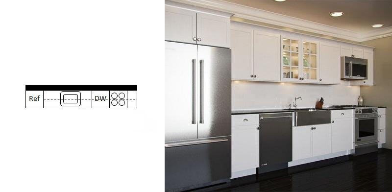 آشپزخانه راهرویی 8
