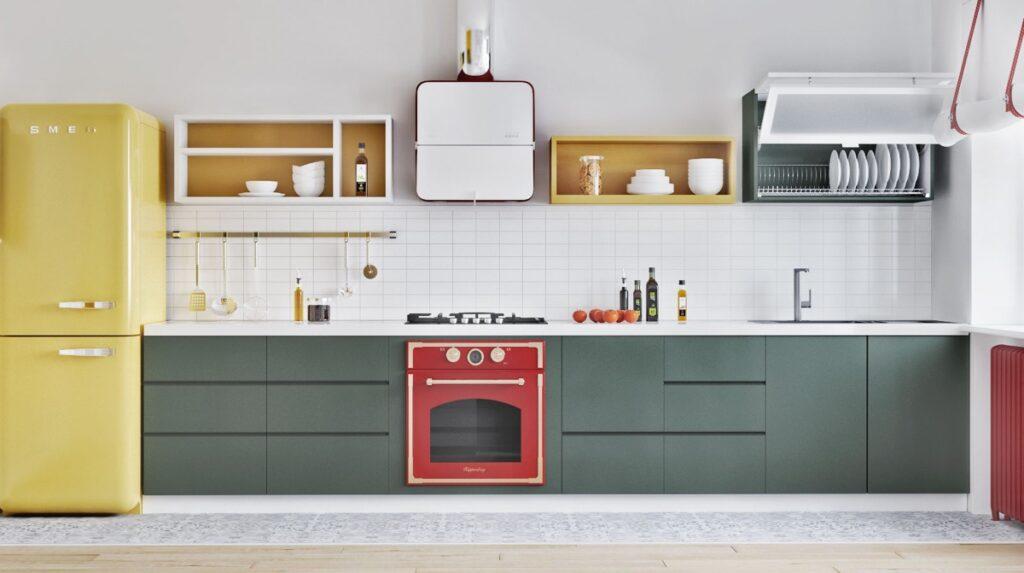 آشپزخانه یک دیواره 1