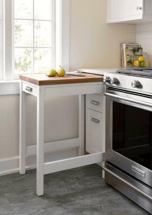 تخته کار کشویی آشپزخانه، پایانی بر بی نظمی های روی کابینت!