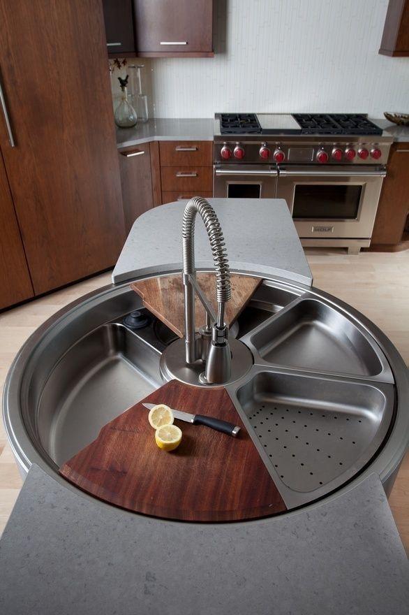 با سینک های دایره ای پُرجا، آشپزخانه ای خاص و مرتب داشته باشین!