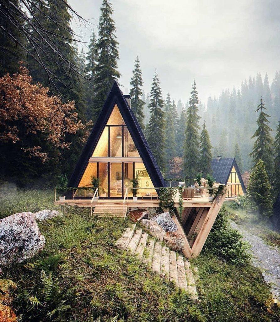 خانه جنگلی روی آب (1)