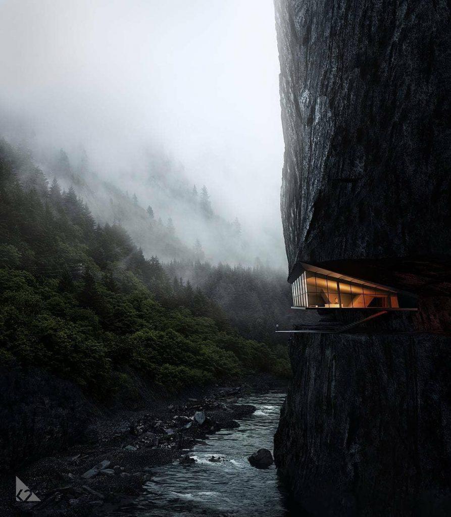 خانه جنگلی روی آب (2)